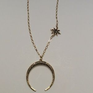 INC NWT STAR AND MOON NECKLACE